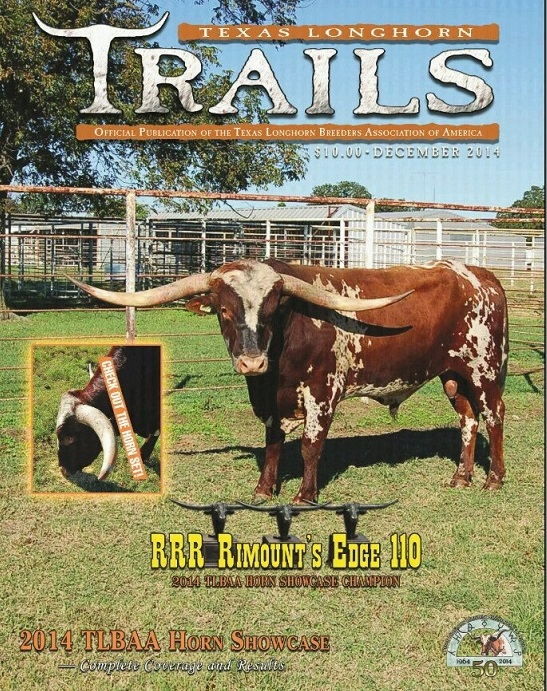 Texas Longhorn Trails Cover featuring RRR Rimount's Edge 110.